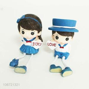New arrival cute lovers figurine resin crafts for decoration