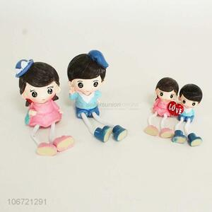 Wholesale valentines gift lovers figurine resin crafts