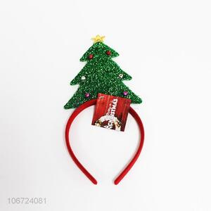 Wholesale Christmas Tree Design Hair Hoop
