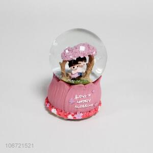 Custom Decorative Crafts Snow Ball With Light And Music