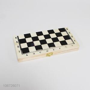 Hot selling education wooden chess game with box