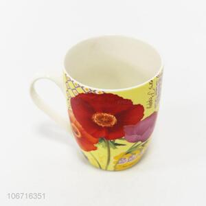 Wholesale Flower Pattern Ceramic Cup Water Cup