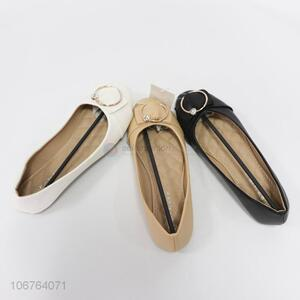 Fashion Style Round Head Ladies Casual Single Shoes