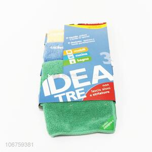 Wholesale price 3pcs soft microfiber cleaning cloth
