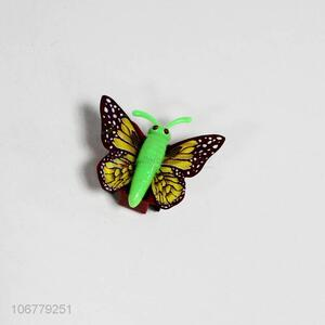 Custom Colorful Imitation Butterfly Plastic Toy