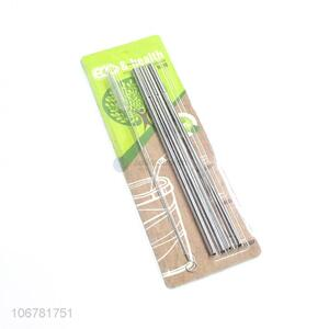 Hot selling 5pcs reusable 304 stainless steel straw and brush set