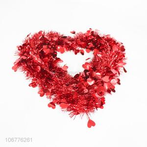 Hot Selling Colorful Heart Shape Festival Wreaths Garland