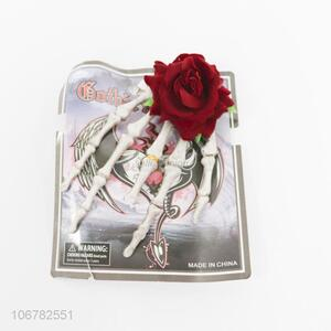 Wholesale Halloween decoration plastic skeleton fingers with rose