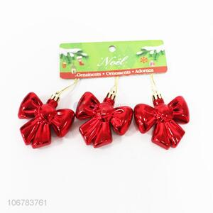 Good Factory Price Red Bow Shaped Christmas Ornaments