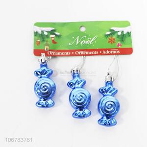 Wholesale Unique Design Blue Candy Shaped Christmas Ornaments