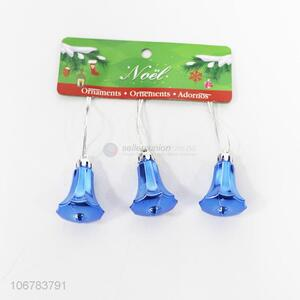 New Product Blue Christmas Bell Shaped Christmas Ornaments