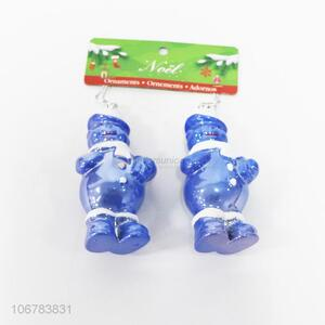 Cheap Price Blue Christmas snowman Shaped Christmas Ornaments