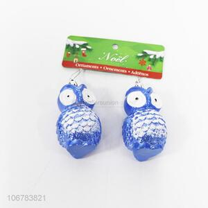Wholesale Blue Owl Shaped Christmas Ornaments for Decorations