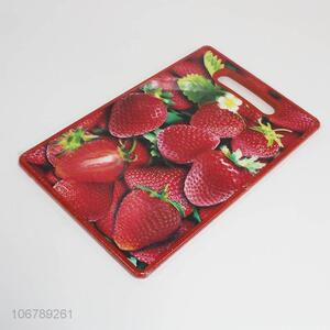 Good Sale Strawberry Pattern Plastic Chopping Board