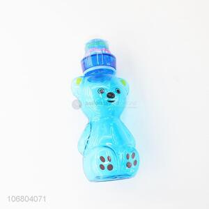 Premium quality cartoon bear shape plastic infant feeding bottle