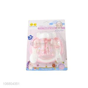 Recent design bpa free 4-in-1 baby feeding bottle set