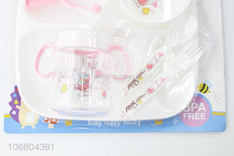New products bpa free 4-in-1 baby feeding set with tray