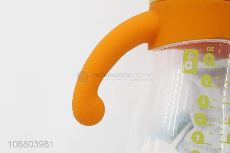 Reasonable price pp material baby feeding bottle with handles