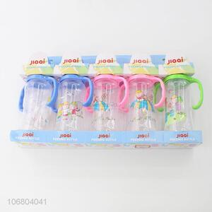 Best sale pp material baby feeding bottle with handles