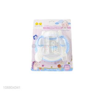 China factory bpa free 4-in-1 baby feeding set with bowl