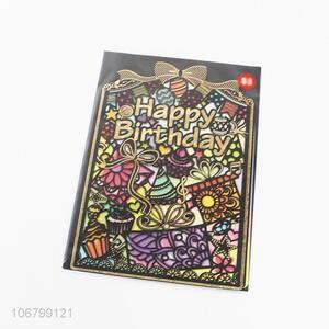 Promotional popular birthday greeting cards paper cards