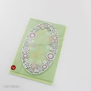 New style fancy laser cutting paper greeting cards