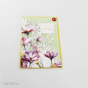 Hot sale exquisite laser cut flower greeting card