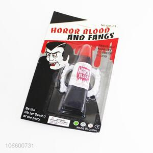 Cheap scary halloween party horor blood and vampire fangs