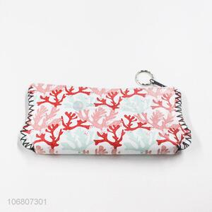 Simple Design Portable Pu Leather Pen Bag Pencil Bag