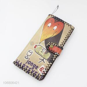 Factory Wholesale Handmade Bird Printed Women Vintage Wallet