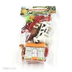 New Design DIY Pasture Animal Model Puzzle Toy Set