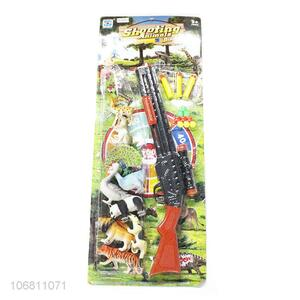 New Style Plastic Gun With Simulation Animal Set Toy