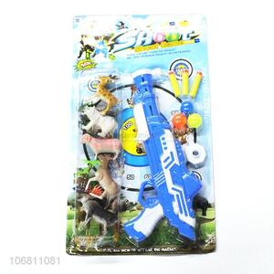 Custom Animal Model Plastic Gun Shoot Game Toy Set