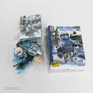Premium quality snow leopard special forces diy building blocks