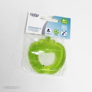 New products apple shape water injected silicone baby teether
