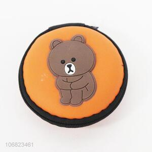 Cute Bear Pattern Coin Purse Round Change Purse