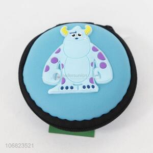 Custom cartoon bull pattern round chang purse coin bag