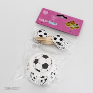 High Sales Soccer Themed Birthday Cake Decoration Football Cake Cupcake Topper