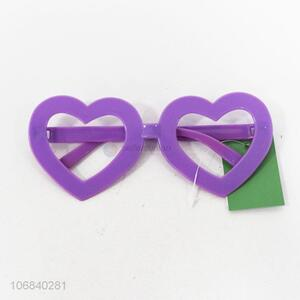 Wholesale newest heart shape children party glasses frame