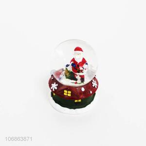 Hot selling exquisite resin crafts Christmas snowball