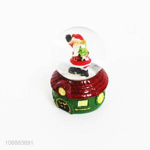 Factory wholesale Christmas resin crafts Christmas water globes