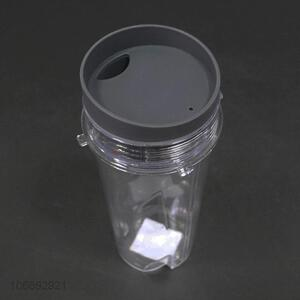 Promotional high quality transparent plastic water cup with lid