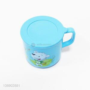 High quality kids cartoon tooth mug water cup with lid
