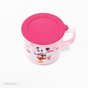 Good sale children cartoon plastic tooth mug water cup with lid