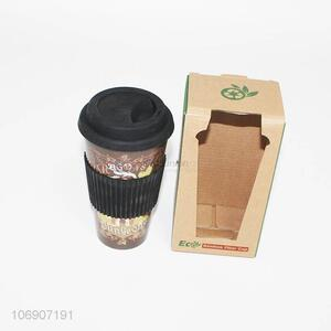 Custom Bamboo Fiber Water Cup With Lid