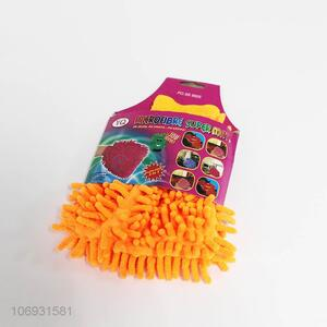 Wholesale chenille microfiber car wash glove car cleaning mitt wipes