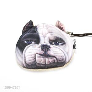 Custom personalized 3D dog printed coin purse coin bag