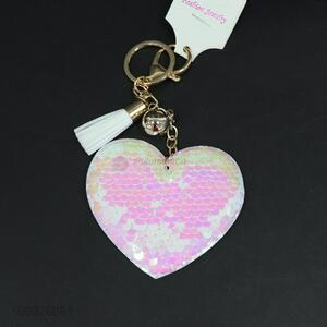 Creative design heart keychain charm women key holder