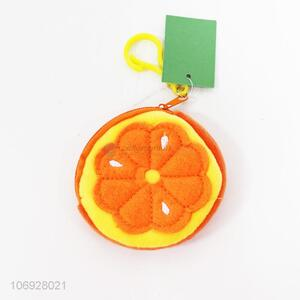 Contracted Design Fruits Orange Shaped Coin Purse Children Wallet Purse
