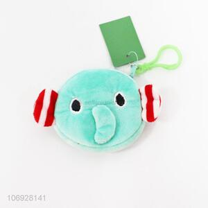 Latest Arrival Cartoon Short Plush Animals Elephant Shaped Coin Purse For Kids